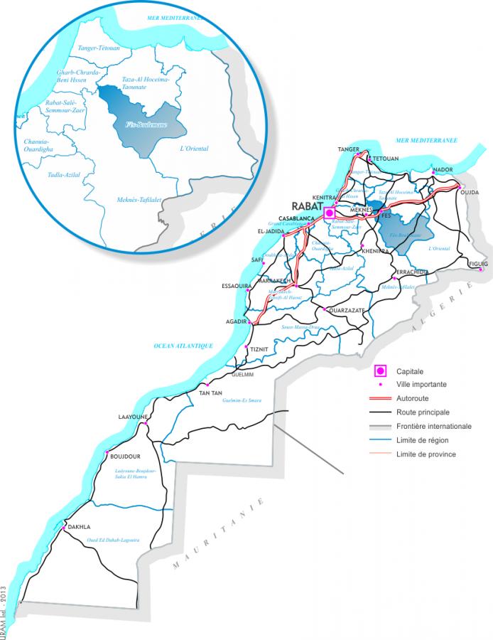 Situation de la région de Fès Boulemane