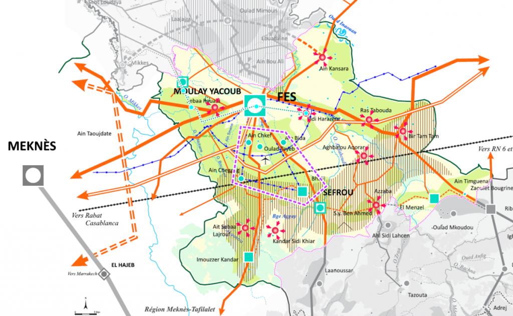 Schéma de structure du couloir de métropolisation